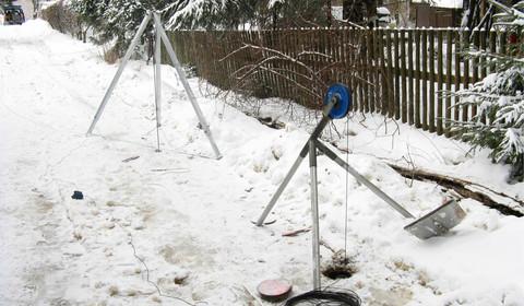 Bohrlochtomographische Messung zur Hohlraumortung im Altbergbau