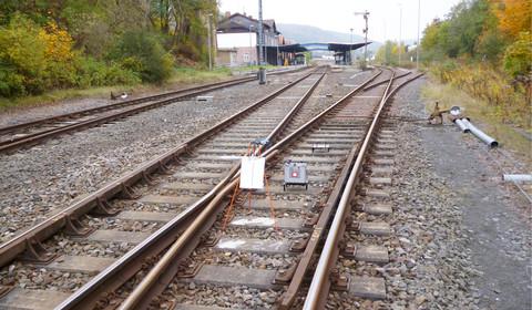 Ortung von Subrosionszonen entlang einer Bahntrasse